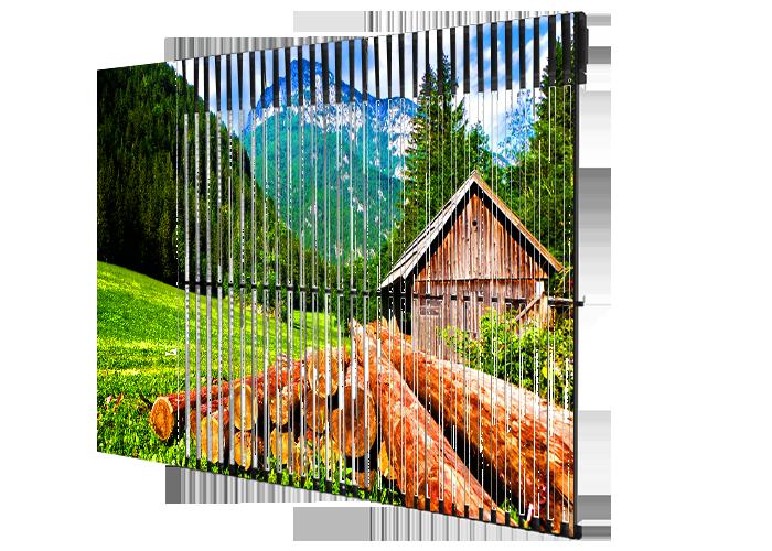 Écran mesh media facade